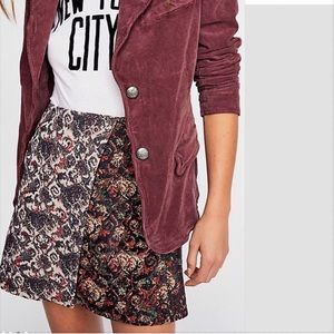 Free People Jackets & Coats - FREE PEOPLE Byron Corduroy Blazer Mulberry NWT